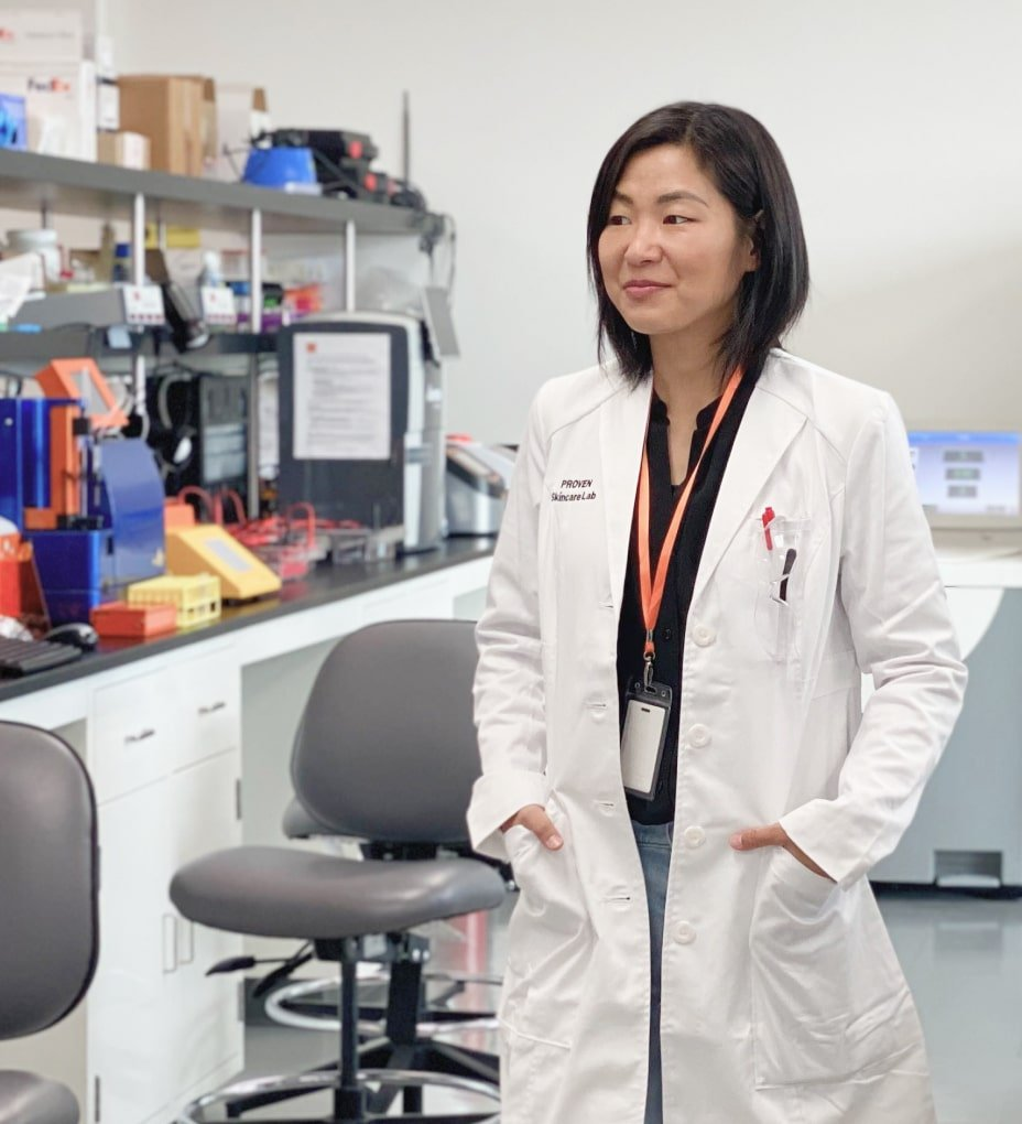 Dr. Amy Yuan in the lab